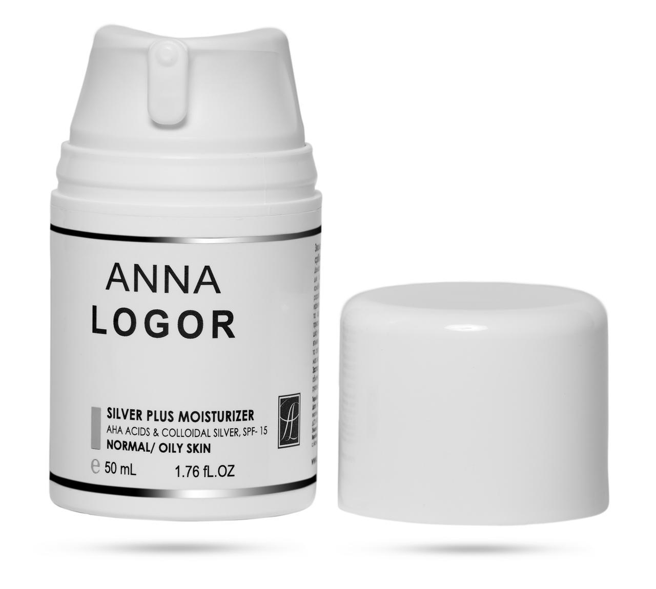 Зволожуючий  крем з колоїдним сріблом  Анна Логор / Anna Logor Silver Plus  Moisturizer 50 мл Код 323