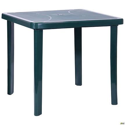 "Стол разборной Nettuno 80х80 пластик зеленый 15 TM ""AMF"", фото 2"
