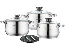 Кухонний набір каструль Bohmann BH 0113 7 предметів набір посуду зі сталі
