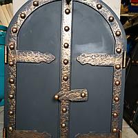 "Дверца под коптилку арка метал ""3"" мм 600х400"