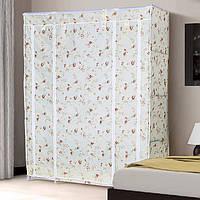 Большой тканевый шкаф для одежды 68130 розы прованс, фото 1