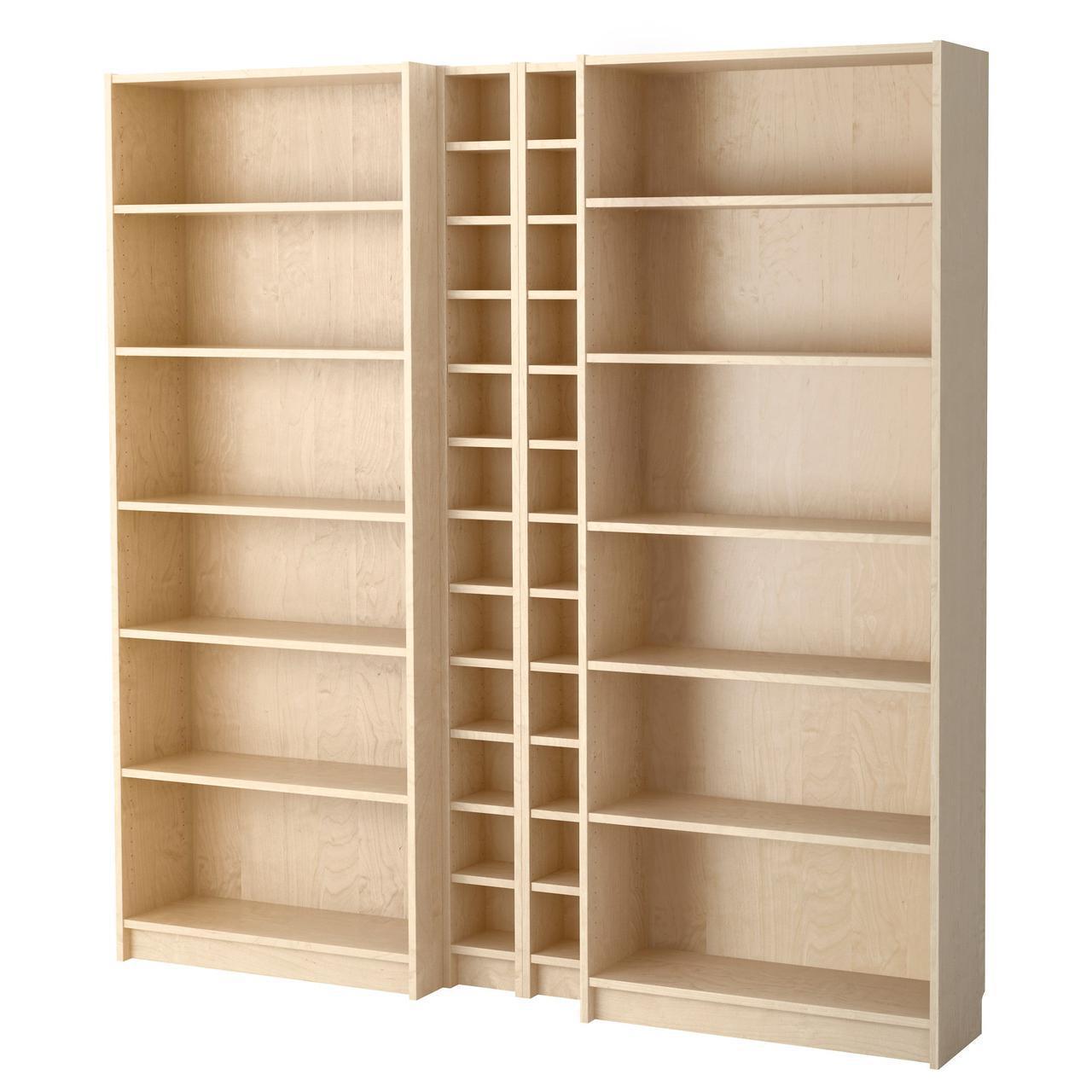 Стеллаж IKEA BILLY / GNEDBY 200x202x28 см березовый шпон 090.234.03