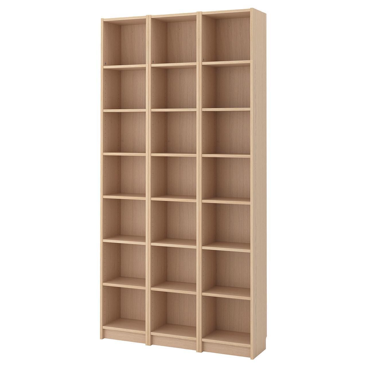 Стеллаж IKEA BILLY 120x237x28 см беленый дуб 592.499.42