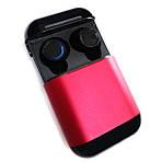 Wi-pods S7 Bluetooth наушники беспроводные водонепроницаемые с зарядным чехлом-кейсом. RED Оригинал, фото 2