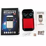 Wi-pods S7 Bluetooth наушники беспроводные водонепроницаемые с зарядным чехлом-кейсом. RED Оригинал, фото 5