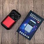 Wi-pods S7 Bluetooth наушники беспроводные водонепроницаемые с зарядным чехлом-кейсом. RED Оригинал, фото 6