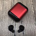 Wi-pods S7 Bluetooth наушники беспроводные водонепроницаемые с зарядным чехлом-кейсом. RED Оригинал, фото 7