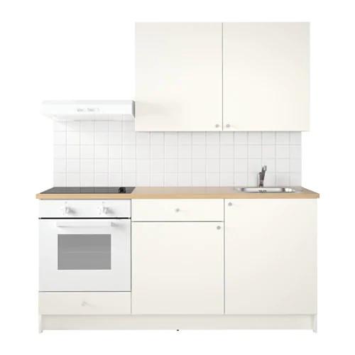 Кухонний гарнітур IKEA KNOXHULT 180x61x220 см білий світло-коричневий 691.804.66