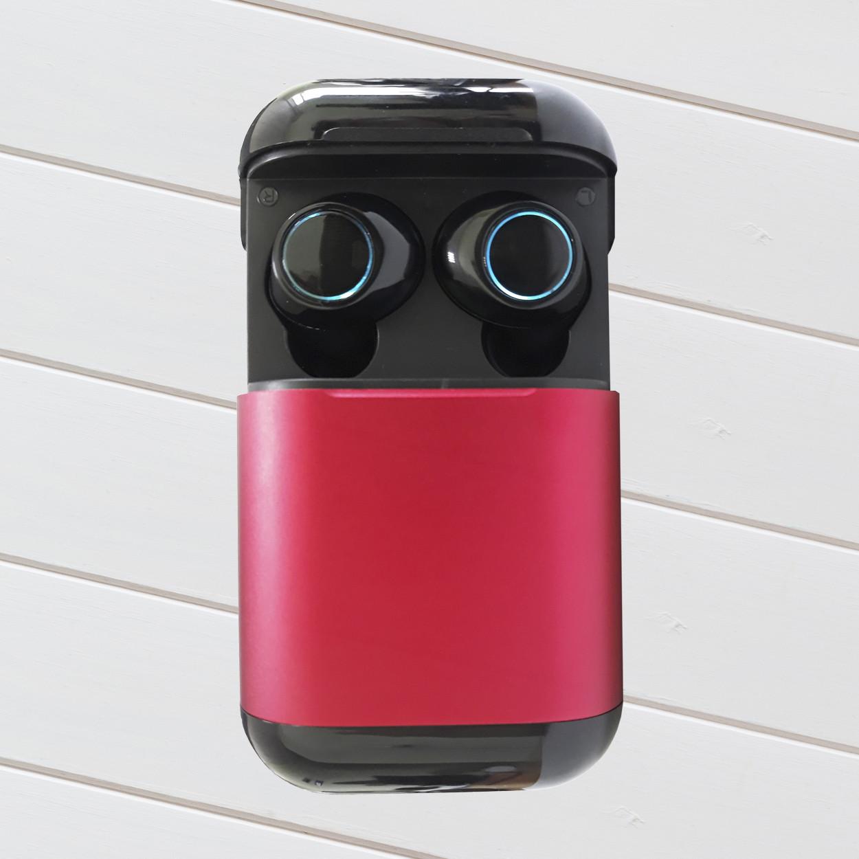 Wi-pods S7 Bluetooth наушники беспроводные водонепроницаемые с зарядным чехлом-кейсом. RED Оригинал