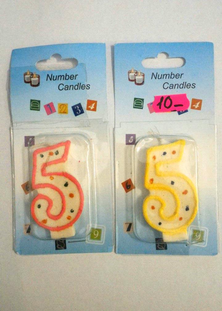 Свеча в торт 5 (пять)    Размер:7х4