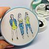 Футляр для линз с изображением модных девчонок, фото 7