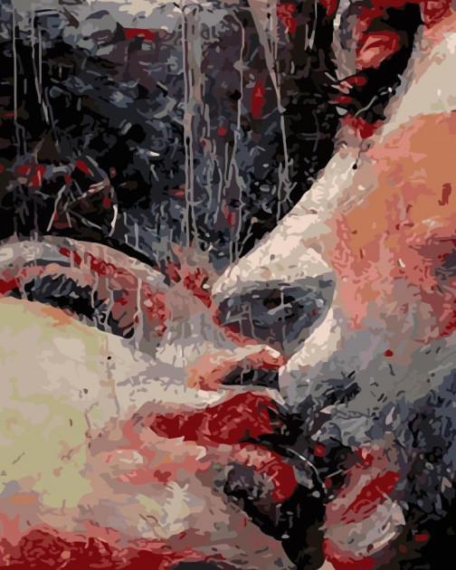 Картина по номерам Страстный поцелуй, 40x50 см., Art Story