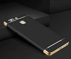 Чехол с золотыми вставками для Huawei P10 Lite (2 Цвета)