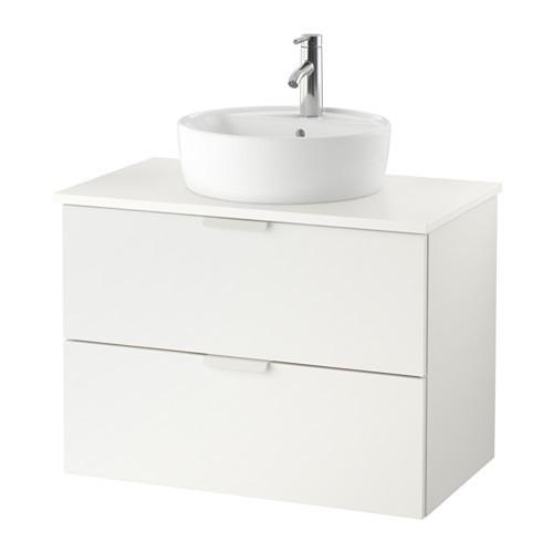 Шкаф для раковины IKEA GODMORGON / TOLKEN / TÖRNVIKEN 82x49x74 см с 2 ящиками белый 891.877.73