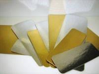 Картонная подложка ламинированная золото-серебро