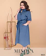 Платье-рубашка женская летняя, размер:52-60, фото 2