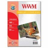 Фотопапір WWM, глянц. 180g/m2, A4, 50л (G180.50)