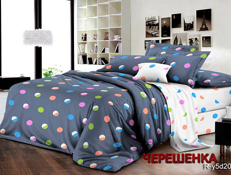 Двуспальный набор постельного белья 180*220 из Ранфорса №182038AB Черешенка™, фото 2
