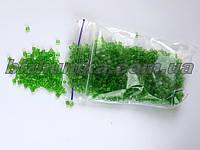 """Мелкий граненый рубленый светло-зеленый бисер """"Майская зелень"""" 450 грамм"""