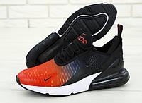 """Кроссовки мужские Nike Air Max 270  """"Черные с красным"""" найк аир макс р. 41-45, фото 1"""