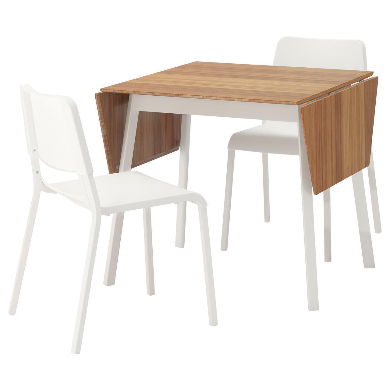 Комплект для кухни (стол и 2 стула) IKEA IKEA PS 2012 / TEODORES белый коричневый 892.214.75