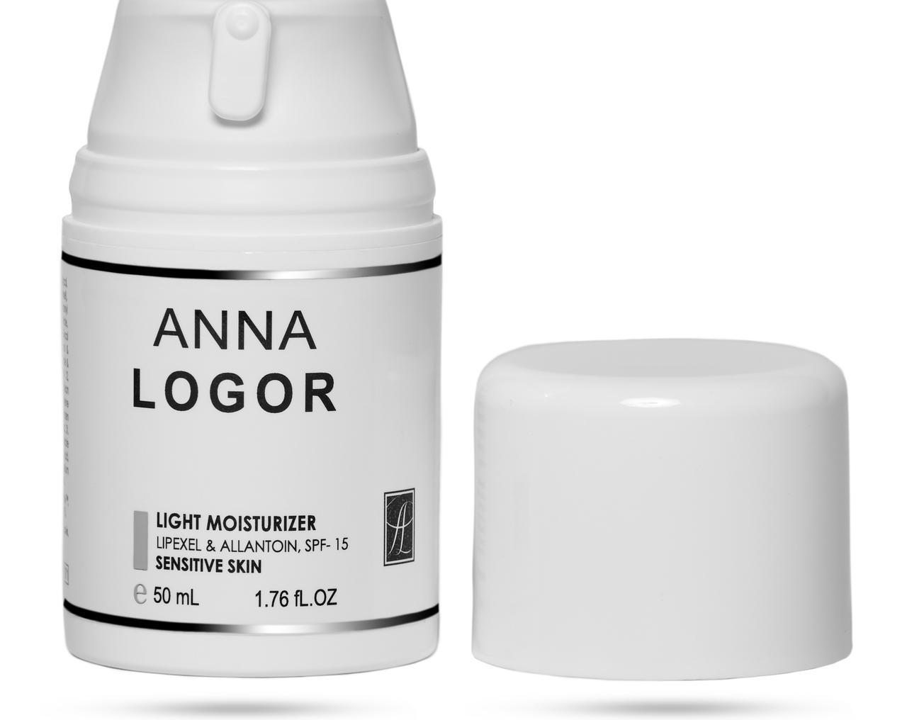 Крем для чутливої шкіри обличчя Anna Logor Light Moisturizer for Sensitive Skin 50 ml Art.671