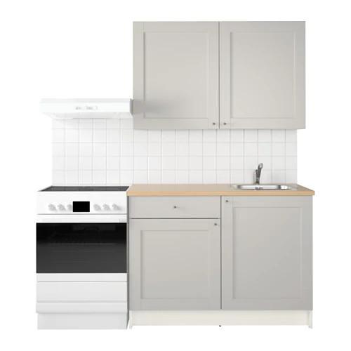 Кухонный гарнитур IKEA KNOXHULT 120x61x220 см серый светло-коричневый 991.804.36