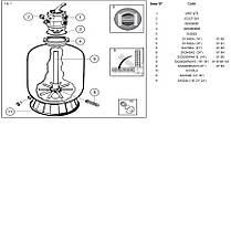 Фильтр для бассейна Hayward серии PowerLine 81103 (10 м3/час, 100 кг песка), фото 3