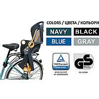 Велокресло темно-серое TILLY T-821 с установкой позади сиденья к подседельной трубе