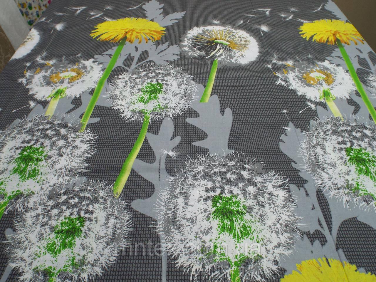 Ткань для пошива постельного белья бязь голд Одуванчики
