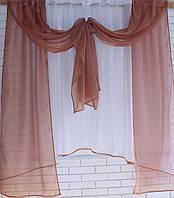 Кухонный комплект №48 Цвет коричневый с белым