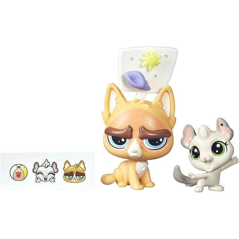 Набор Littlest Pet Shop зверюшки Sulky MacWhiskers and Chenille Chilla. Оригинал Hasbro B5689/A7313