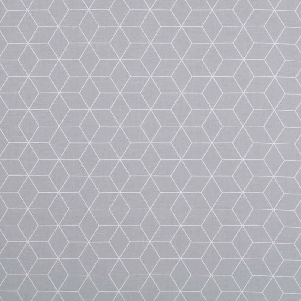 ✁ Отрез хлопковой ткани Шестигранники серая 100х80 см