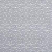 ✁ Отрез хлопковой ткани Шестигранники серая 100х80 см, фото 1