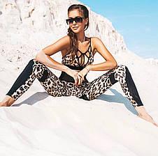 Костюм для фитнеса леопардовый, фото 2