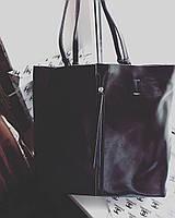 Кожаная сумка , Велика шкіряна сумка жіноча Модно і практично.