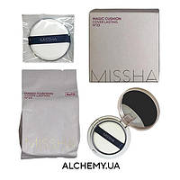 Кушон MISSHA Magic Cushion Cover Lasting Set SPF50+ PA+++ NO.23 15ML(+ сменный блок, новый спонж)