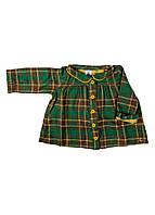 Рубашка  Petit Bateau 67см Зеленый, Желтый