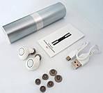 Наушники беспроводные и гаринтуры блютуз вакуумные Wi-pods S2 с зарядным чехлом Bluetooth 5.0. Белые, фото 6