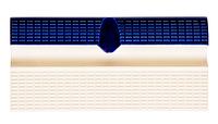 Плитка для бассейна керамическая бордюрная с поручнем и водостоком Aquaviva AV3-1U/YC3-1U
