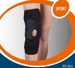 Ортез на колінний суглоб зі спіральними ребрами жорстк унів