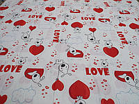 Ткань для пошива постельного белья бязь голд Love, фото 1