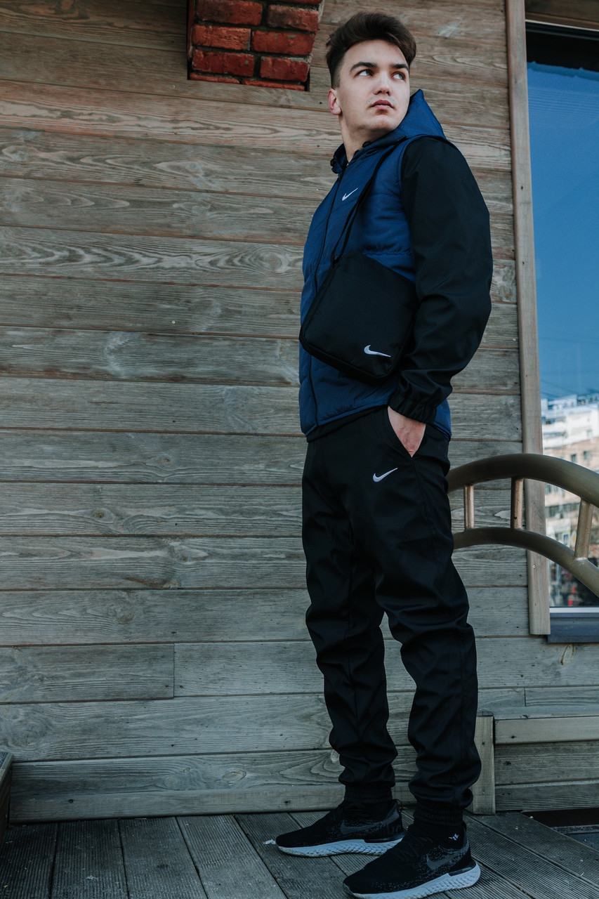 Костюм Мужской Жилетка + штаны. Барсетка (в подарок) Найк Nike