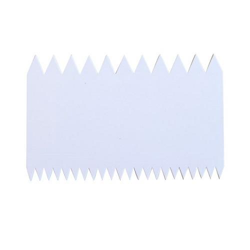 Шпатель двухсторонний зубчатый, 145 х 90 мм