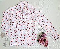 Блузка на девочку Янина, р.128-152, нежный розовый, фото 1