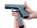 Страйкбольный пистолет Глок 17 (Glock 17) Galaxy G15+ с кобурой, фото 5