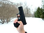 Страйкбольный пистолет Глок 17 (Glock 17) Galaxy G15+ с кобурой, фото 6