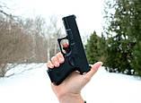 Страйкбольный пистолет Глок 17 (Glock 17) Galaxy G15+ с кобурой, фото 7