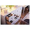 HEMNES Комод с 8 ящиками, белая морилка 102.392.80, фото 3