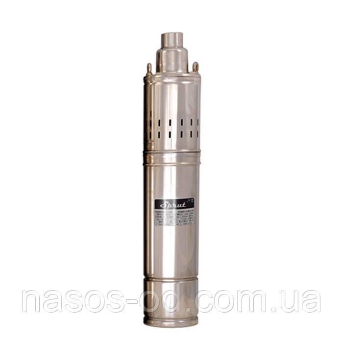 Скважинный шнековый насос Sprut 4SQGD1.2-50-0.37 0.58кВт Hmax93м Qmax33л/мин Ø102мм (кабель 10м)